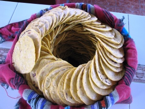 Corn Tortillas made with love by hand every day.