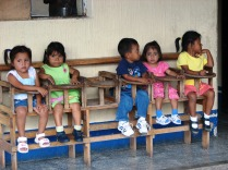 These sweet children are probably a lot older than you would guess. Most of them were at least 4 years old.