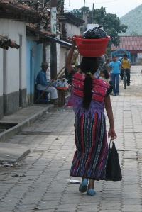 Lady walking in San Andres