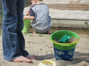 Barefoot in the sand. Thank you, spring.