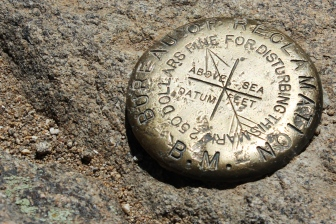 This marks the summit of Deer Mountain, where we had the best views of the whole trip.